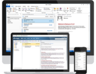 AmeriHost High Storage Email on your desktop, via webmail and on your phone